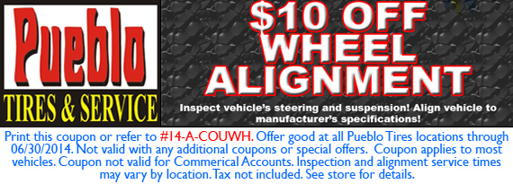 $10 OFF WHEEL ALIGNMENT!